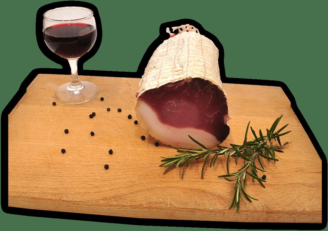 Domač sušen svinjski hrbet blagovne znamke Sočna